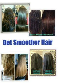 Smoother hair without chemical straightening. Check out at www.hairbydrea.mymonat.com