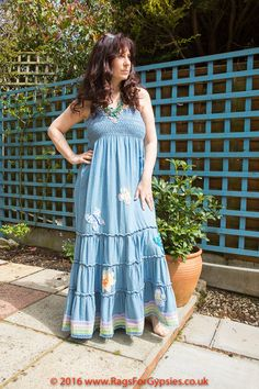 Denim Hippie Gypsy Dress Boho Bohemian by RagsForGypsies on Etsy