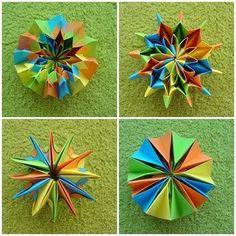 O QUE É MEU É NOSSO: Origami com Movimento (Action) - Fogos de Artifício - Fireworks - Yami Yamauchi