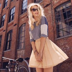 Skirt the rules and dress up a downtown look. #oldnavystyle
