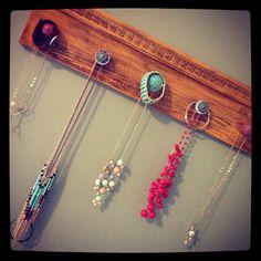 Drawer knob jewelry hanger #browneyedgirldesigns