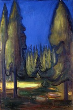 Dark Spruce Forest  Edvard Munch - 1899