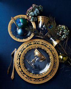 "Arte Italica ""Vetro Gold"" Dinnerware & Glassware - #Horchow"