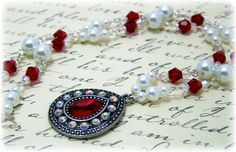 Medieval Necklace - Renaissance Jewelry - Medieval Jewelry - Pearl & Crystal Necklace, Tudor Jewelry, SCA, Elizabethan on Etsy, $37.00