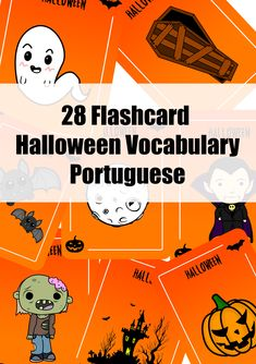 28 Flashcard Halloween vocabulary in German Vocabulary Cards, English Vocabulary, Halloween Vocabulary, Flashcard, Foreign Language, Printable Cards, Portuguese, Coloring Pages, Spanish
