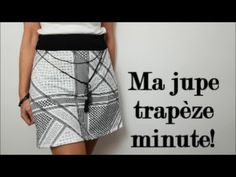 DIY couture facile: Comment coudre une jupe trapèze- sans patron-! - YouTube