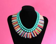 Color Stripes Necklace by NobleHouseDesigns on Etsy, $175.00