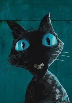Coraline Cat Art Print