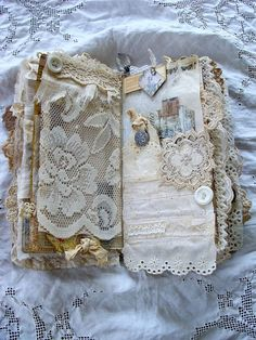 Leather and Lace Travelers Notebook Junk Journal Dori Fabric Journals, Journal Paper, Book Journal, Journal Covers, Notebook Covers, Handmade Journals, Handmade Books, Handmade Notebook, Handmade Rugs