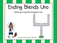 This Uno game is a wonderful activity for your students to complete in a small group setting.  This game reinforces common ending blends contained ...
