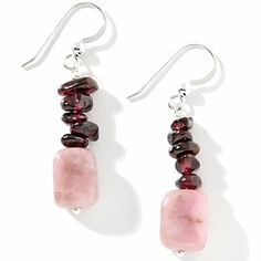Jay King Carnival Stone and Garnet Sterling Silver Earrings   HSN Price:$44.90  Appraised Value: $63.00