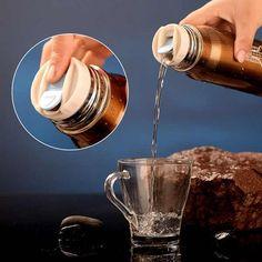 Garrafa Termica em aço inoxidável (350ml) com copo