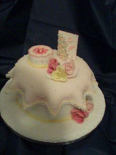 Sugarpaste celebration cake topped cake