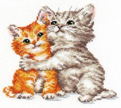 "A BRAND NEW COUNTED CROSS STITCH KIT ""CAT'S HUG"" ALISA    #ALISA"
