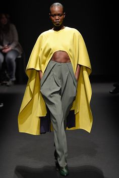 Awesome cape. Not so hot on the pants. Esteban Cortazar - Fall 2015 Ready-to-Wear - Look 15 of 29