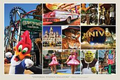 Top tourist attractions in Singapore - Universal Studios Singapore Tourist Attractions, Singapore Travel Tips, Singapore Map, Holiday In Singapore, Universal Studios Singapore, Tourism Industry, Gardens By The Bay, Homeland, Marina Bay Sands