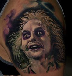 @victorchil #Beetlejuice done at @family_art_tattoo #inkeeze #kwadron #dermalizepro #electricink #inkjecta
