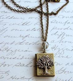 TREE OF LIFE Locket Necklace by Botanical Bird. I want this!