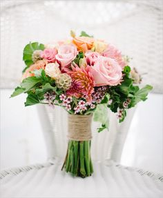 spring wedding bouquet by Sassafrass Gardens