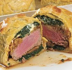 Individual+Beef+Wellingtons+with+Mushroom,+Spinach+&+Blue+Cheese+Filling