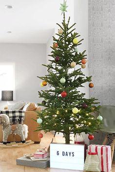 Diy Christmas Decorations Easy, Unique Christmas Trees, Simple Christmas, Christmas Diy, Rustic Christmas, Xmas Tree, Summer Christmas, Diy Ornaments, Christmas Kitchen