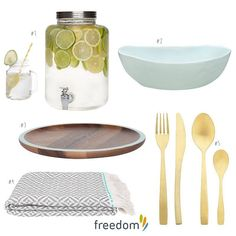 A few of our favourite pieces for summer entertaining this season - have a look on our blog #stylebyfreedom for more decor ideas  #nzsummer #freedomnz see comment below for product details and prices