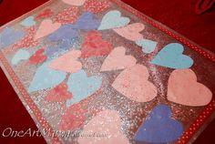 DIY Kids Placemats - using contact paper