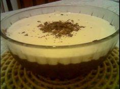 Receita de Pavê de Uva com Chocolate Branco - 1 envelope de gelatina em pó sem sabor, 3 colheres(sopa) de água, 1 ½ xícara(chá) de leite, ½ xícara de suco de uva concentrado, 1 lata de leite condensado, 1 pacote de bistoito champanhe picado(180g), 200g de creme de leite fresco gelado, 400g de chocolate branco picado
