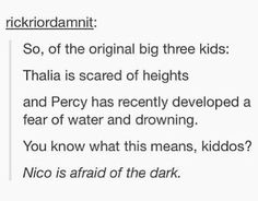 It actually said that he was in the blood of Olympus