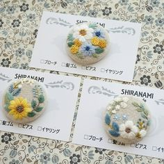 Floral Embroidery Patterns, Hand Embroidery Art, Hand Embroidery Tutorial, Embroidery On Clothes, Creative Embroidery, Flower Patterns, Embroidery Stitches, Embroidery Designs, Fabric Roses Diy