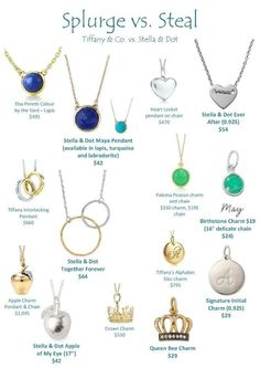 SPLURGE VS STEAL!  The Maya pendant designed by celebrity jeweler Maya Brenner is one of my favs!