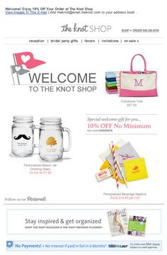 the knot shop wedding registry email 2014