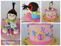 """Different view of Agnes cake from """"Despicable Me"""" Minions"""