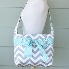 mini messenger bag - grey chevron ~ by @lindsey cheney {so many cute pattens and combinations!}