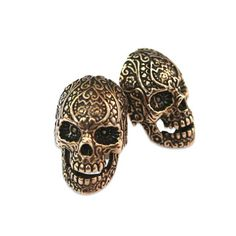 I suddenly want a suit.  Sugar Skull Cuff Links by Moon Raven Designs