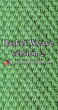 Basket Weave Crochet, Bag Crochet, Crochet Geek, Tunisian Crochet, Basket Weaving, Free Crochet, Crochet Granny, Double Crochet, Hand Weaving
