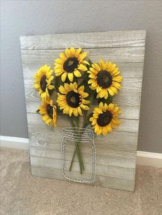 diy furniture farmhouse – Handmade Home Decor 50 Stunning Farmhouse Wall Decor Ideas You Should Copy Now Sunflower Kitchen Decor, Sunflower Crafts, Sunflower Wall Decor, Sunflower Decorations, Sunflower Bathroom, Sunflower Nursery, Sunflower Room, Yellow Wall Decor, Yellow Bathroom Decor