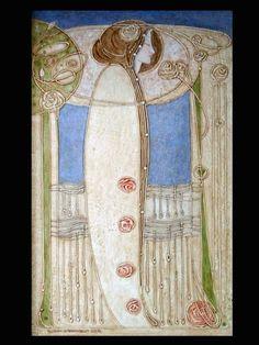Décor de la salle à manger (House for an art lover, Glasgow) Charles Rennie Mackintosh Designs, Charles Mackintosh, Art And Craft Design, Art Deco Design, House For An Art Lover, Glasgow School Of Art, Glasgow Girls, Azulejos Art Nouveau, Arts And Crafts Movement