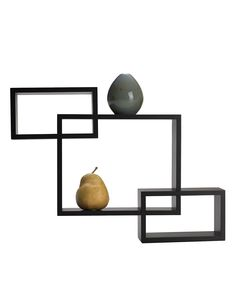 Melannco Home Decor, Espresso Overlapping Cube Wall Shelves - Candles & Home Fragrance - for the home - Macy's
