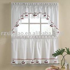 cherry bordado cortina de la cocina-Cortinas-Identificación del producto:322760361-spanish.alibaba.com