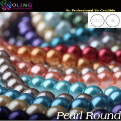 6 MM 100 STKS glas Parels kralen ronde pearl imitatie DIY Armband oorbellen bead choker ketting Sieraden Maken Gemengde multicolor