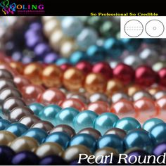 6 미리메터 100 개 유리 진주 비즈 라운드 진주 모조 DIY 팔찌 귀걸이 구슬 초커 목걸이 보석 만들기 혼합 여러 가지 빛깔의