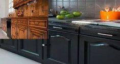 Pour peindre des meubles de cuisine durablement, une peinture pour meuble de la marque V33 spécialement conçue pour résister aux graisses dans la cuisine qui s'applique en 2 couches sans poncer.