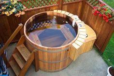 Wood Fire Heater hot tub