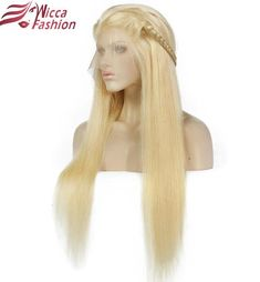 Platinum Straight 613 Full lace Wig with Baby Hair Carina Brazilian Remy Long Blond Human Hair With Baby Hair Wig Blonde Lace Front Wigs, Blonde Wig, Blonde Color, Bleach Blonde, Cheap Human Hair, Human Hair Lace Wigs, Remy Human Hair, Curly Wigs, Remy Hair