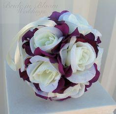 Flower girl kissing ball Wedding flower by BrideinBloomWeddings, $18.00