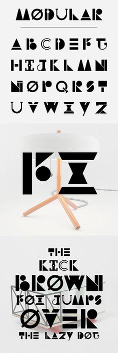 Modular typography using basic shapes Hand Lettering Art, Types Of Lettering, Typography Letters, Typography Logo, Graphic Design Typography, Lettering Design, Type Design, Logo Design, Initial Fonts
