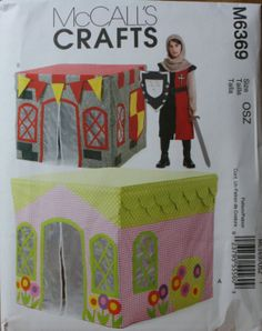 McCall's M6369 Childrens Playhouse Castle Sewing by PatternDepot, $5.00