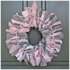 Hang on door at shower, but have attachable chalk board that can be used as announcement on hospital door. Baby Shower Parties, Baby Shower Themes, Baby Shower Decorations, Baby Shower Gifts, Shower Ideas, Grey Baby Shower, Girl Shower, Pink And Gray Nursery, Pink Grey