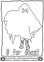 Ghost Coloring Page , Echo's Free Halloween Coloring Pages at www.wonderweirded.com